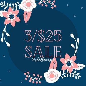 🛍 3/$25 sale! 🛍